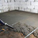Какой бетон используют для заливки пола?